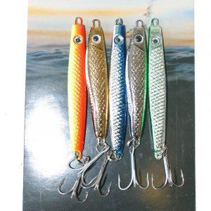 OSEAN Sluksett Sildesluker 5pk Pakke med 5 stk assorterte sluker à 40gr, passende til det meste av stangfiske til sjøs og elv. 5 ulike farger.