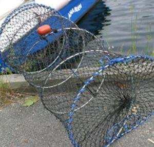 Fiske- og krabbeteine, sammenleggbar