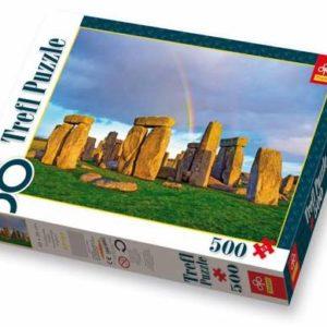 Puslespill Stonehenge, Anglia. Fra Stonehenge i England. 500 biter.