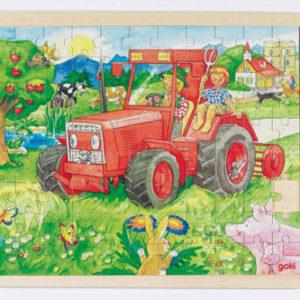 Traktor puslespill, goki