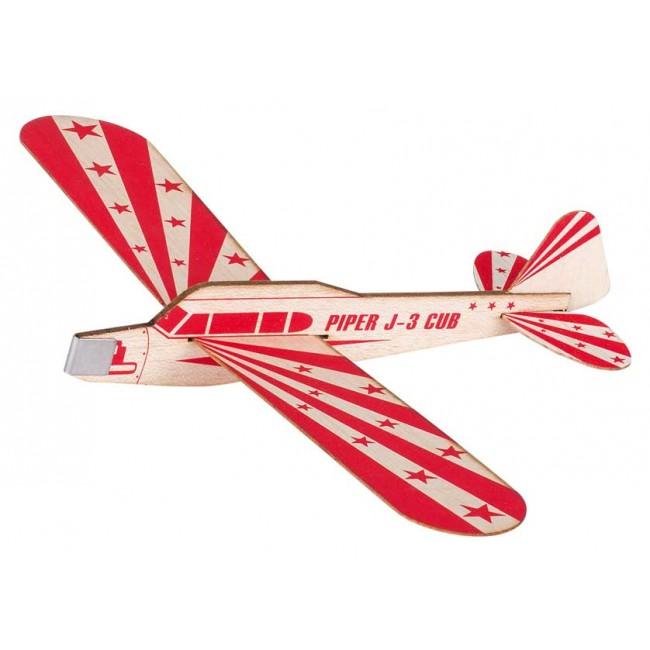 Balsa glidefly Piper J-3 Cub