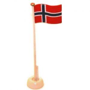 Norsk Flagg i tre