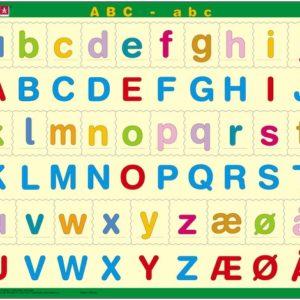 Puslespill Larsen puslespillfabrikk. Et spill om Lær bokstavene ABC - abc.