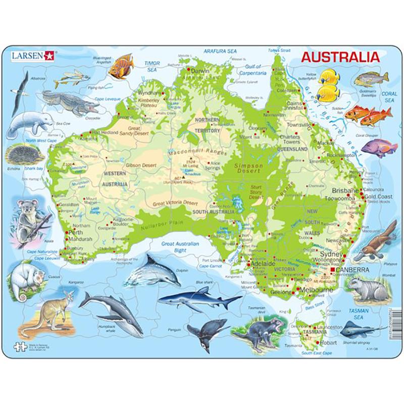 kart over australia Puslespill Australia kart | Hobbyfabrikken kart over australia