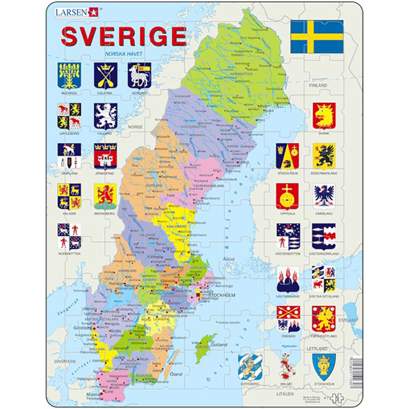 kart sverige Puslespill Sverige kart | Hobbyfabrikken kart sverige