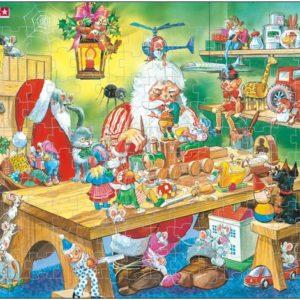 Julenissens verksted, puslespill fra Larsen puslespillfabrikk.