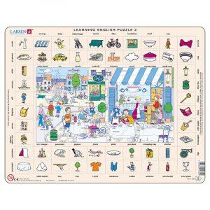 Puslespill Larsen puslespillfabrikk Spill med engelsk undervisning. Lær engelsk. Learning english puzzle 2.