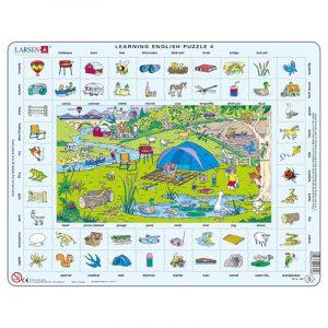 Puslespill Larsen puslespillfabrikk Spill med engelsk undervisning. Lær engelsk. Learning english puzzle 4.