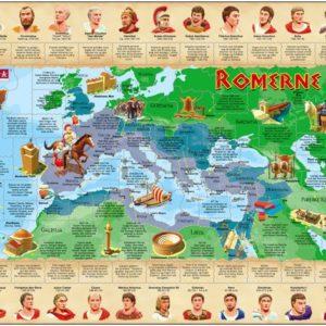 Puslespill fra Larsen puslespillfabrikk. Her kan du pusle historie. Dette er historien om Romerne.