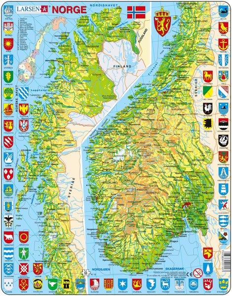 byer i norge kart Puslespill Norge kart | Hobbyfabrikken byer i norge kart