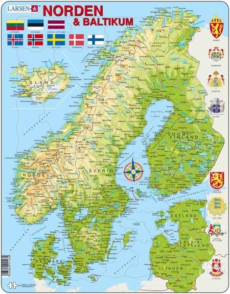 kart over norden Kart og flagg   Produktkategorier   Hobbyfabrikken kart over norden