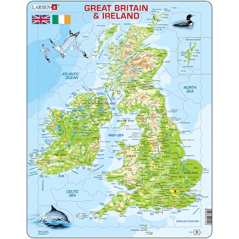 storbritannia kart Puslespill Storbritannia og Irland kart | Hobbyfabrikken storbritannia kart