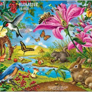 Puslespill med motiv av Blomstene og biene. Fra Larsen puslespillfabrikk.