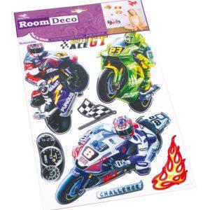 Decosticker, klistremerke med motorsykkel motiv