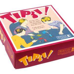 Nostalgisk spill Tipsi. Morsomt retro bordspill.