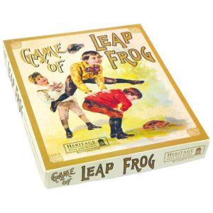 Nostalgisk froskespill. Brettspill for to spillere.