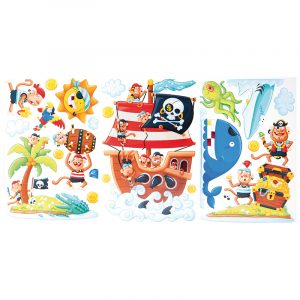 Deco Sticker pirat øya, Rom dekor, barnerom