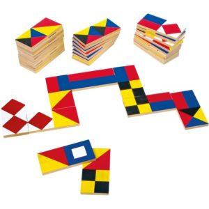 Domino med flagg. Klassiske spill.