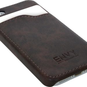 iPhone 5 cover, kunstlær brun