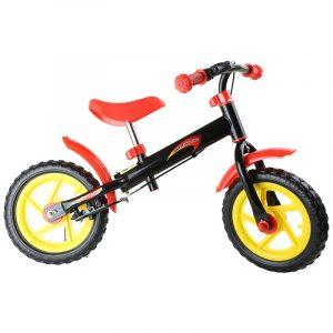 Løpesykkel rød og sort. Balansesykkel, gåsykkel. Sykkel barn balanse.