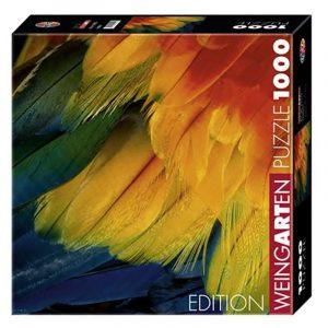 Puslespill Feathers 1000 biter / brikker. Fjær i vakre farger. Natur. Pusslespill fra Heye Puzzle.