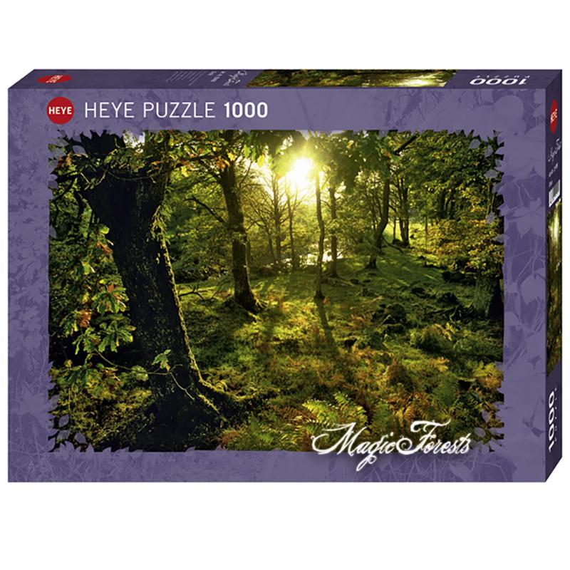 """Puslespill Glade 1000 biter / brikker. Motivet er del av serien """"Magic Forest"""". Pusslespill fra Heye Puzzle."""