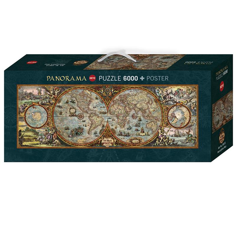 puslespill kart Puslespill Antikt Verdenskart, 6000 brikker | Hobbyfabrikken puslespill kart