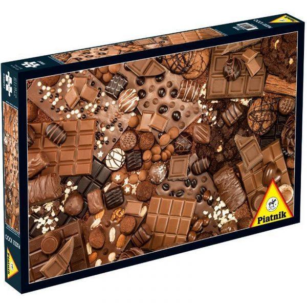 Puslespill Sjokolade. Et pusslespill med 1000 brikker fra Piatnik. Er du glad i sjokolade kan dette puslespillet være en fristelse.