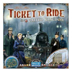 Ticket to Ride United Kingdom, tilleggspakke. Brettspill.