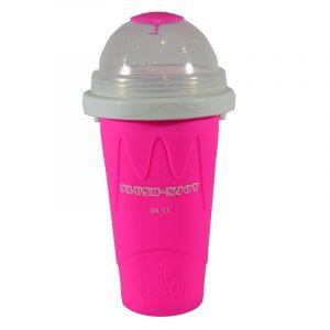 Slush-njoy kopp rosa. Lag din egen slush hjemme. Skvis denne silicon koppen med kraftig fryse element og lag nydelig slusj.
