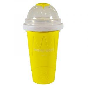 Slush-njoy kopp gul. Lag din egen slush hjemme. Skvis denne silicon koppen med kraftig fryse element og lag nydelig slusj.
