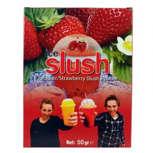 Slush-njoy smak Jordbær. Porsjonspose med Strawberry Slush Powder.