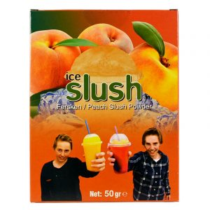 Slush-njoy smak Fersken. Porsjonspose med Peach Slush Powder.