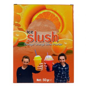 Slush-njoy smak Appelsin. Porsjonspose med Orange Drink Slush Powder.