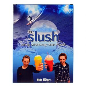 Slush-njoy smak Energy. Porsjonspose med slush Energy slush powder.