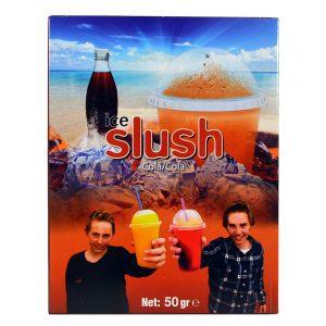 Slush-njoy smak Cola. Porsjonspose med Cola Slush Powder.