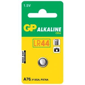 Batteri Knappcell LR44/1,5V Kalles også: A76, V13GA, PX76A, AG13