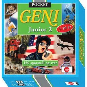 Geni pocket junior 2. Et reisespill i lommeformat, 450 spørsmål og svar.