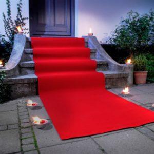Rød løper Teppe rødt, 1 x 3 meter.