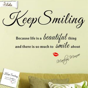 Veggord Keep Smiling. Wallsticker