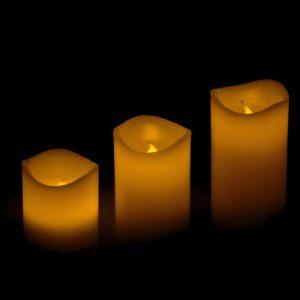 LED kubbelys med fjernkontroll og flimmereffekt. Candle, stearinlys.