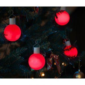 LED julelys med 12 farger. 5 lyspærer.