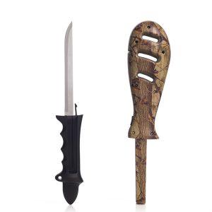 Fiskekniv med knivsliper.