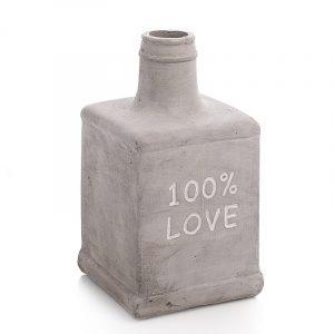 Cement 100% LOVE vase. Betong vase.