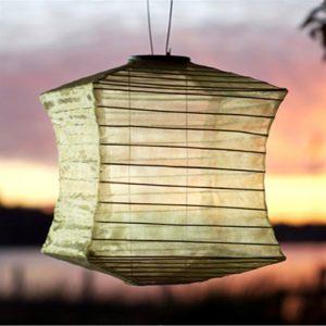Solar LED lanterne i kanvas.