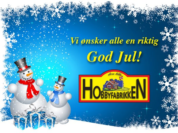 God jul fra Hobbyfabrikken.no
