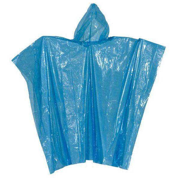 Regn Poncho, blå