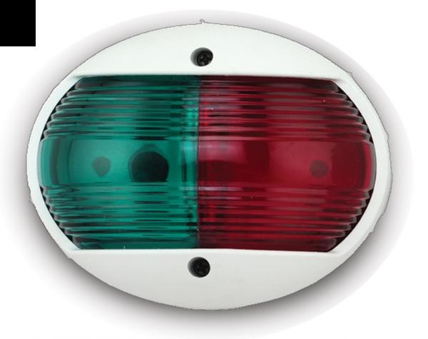 Lanterne LED 2NM Bi-Color. Hvit UV bestandig plast. For båt opp til 12m.