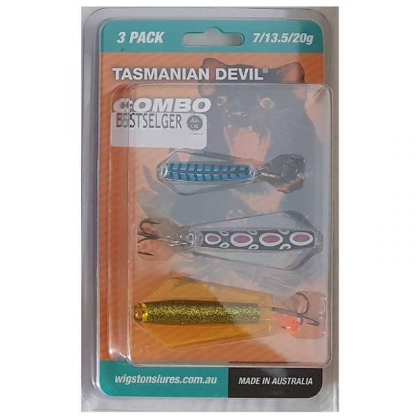 """Tasmanian Devil Sluksett Bestselgere 3 pk. En fantastisk krok for fiske. Sluk som """"svømmer"""" på to dybder."""