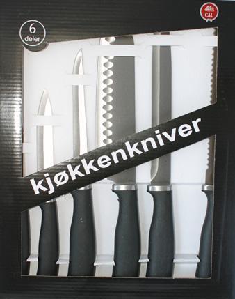 Knivsett til kjøkken
